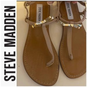 Steve Madden sandal worn once with metal bow sz 7